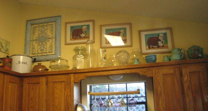 Above Kitchen Cabinets Ideas Intended Small