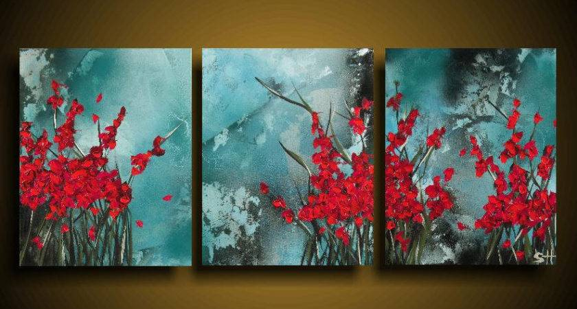 Abstract Painting Off Large Asian Modern Art