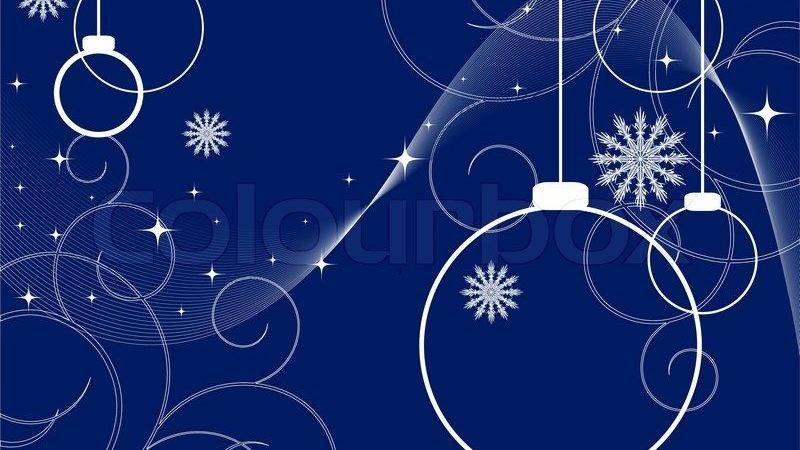 Abstract Vector Christmas Blue Color