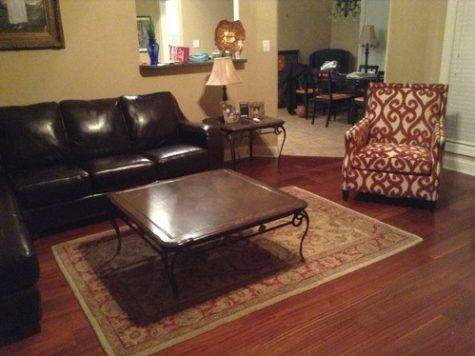 Accent Chair Brown Leather Sofa