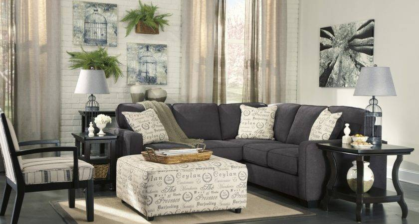 Alenya Charcoal Living Room Furniture Collection