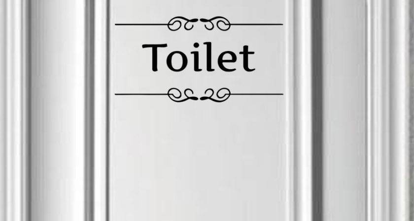 Aliexpress Buy Sign Toilet Wall Stickers Adhesive