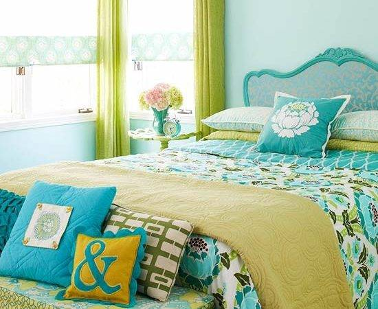 Alluring Turquoise Bedroom Accessories