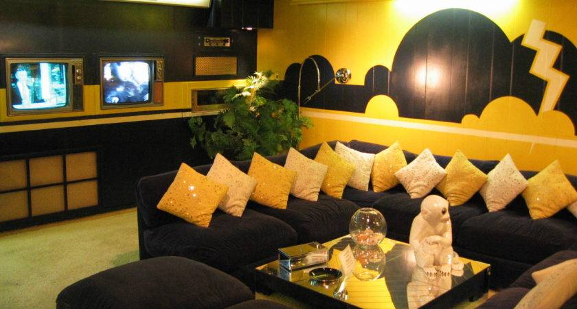 Amazing Black Yellow Living Room Ideas