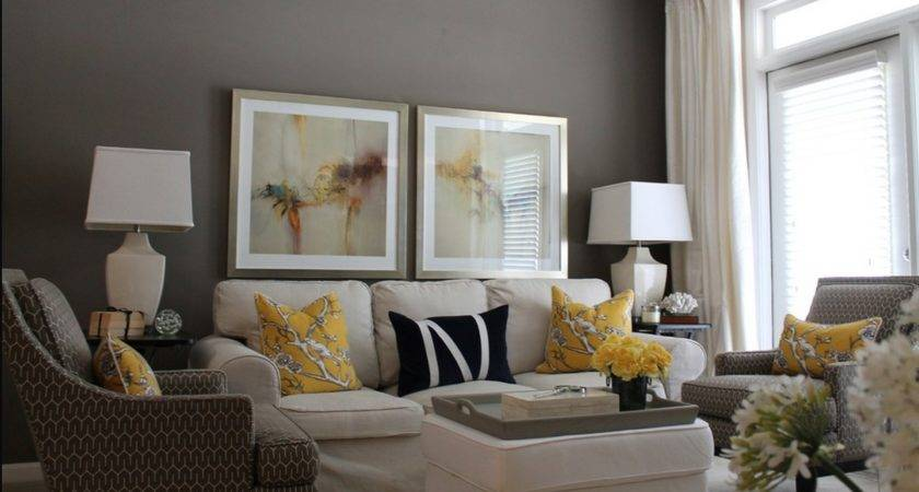 Amazing Gray Sofa Living Room Ideas Yellow Cotton