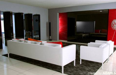Amazing Ideas Decorating Living Room Red Grey