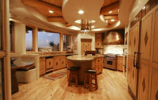 Amazing Log House Kitchens Have Hick Country