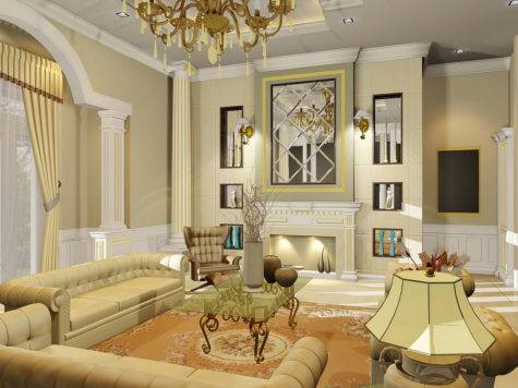 Amazing Perfect Luxurious Classic Living Room Decor