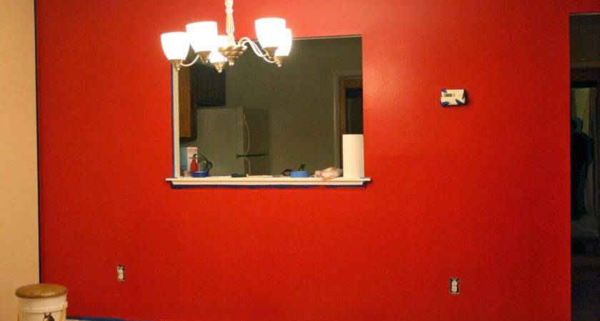 Amazing Red Paint Wall Decorating Design