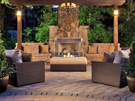 Amazing World Outdoor Fireplace Designs