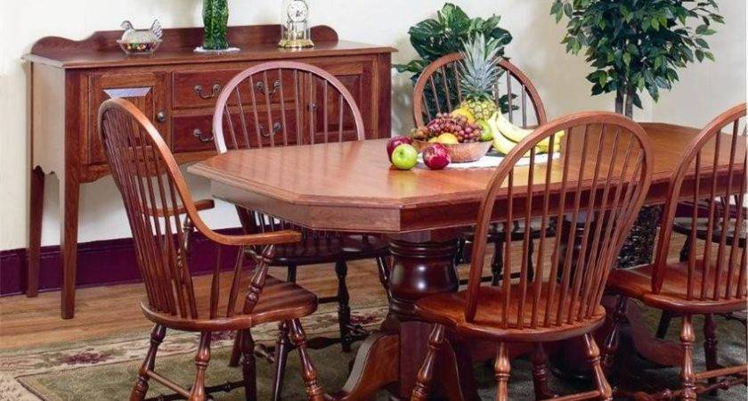 Amish Clipped Corner Double Pedestal Dining Room Table