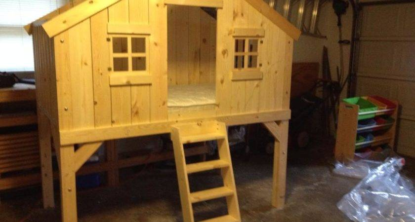 Ana White Clubhouse Treehouse Bed Diy Projects