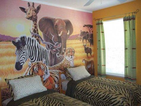Animal Themed Children Bedrooms Jungle Wild Design