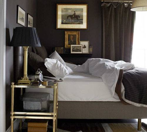 Annie Brahler Chic Bedroom Chocolate Brown Walls