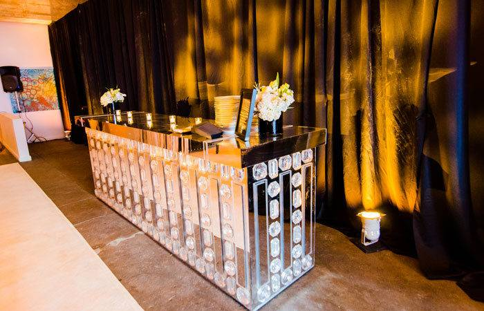 Another Custom Bar Had Rows Oversize Crystals Across