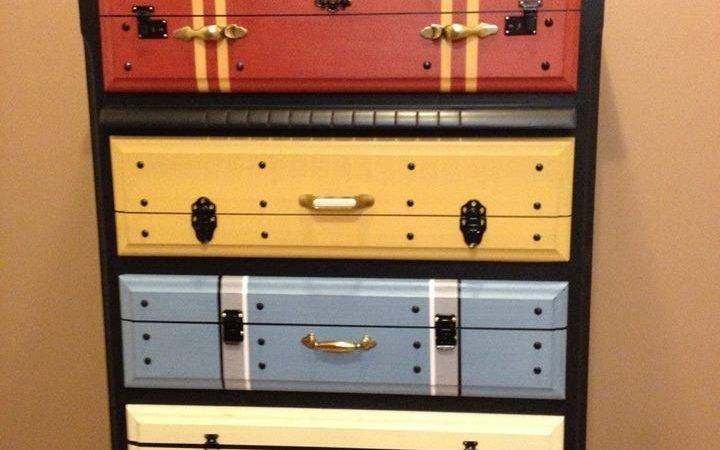 Another Faux Suitcase Painted Chest Drawers Love