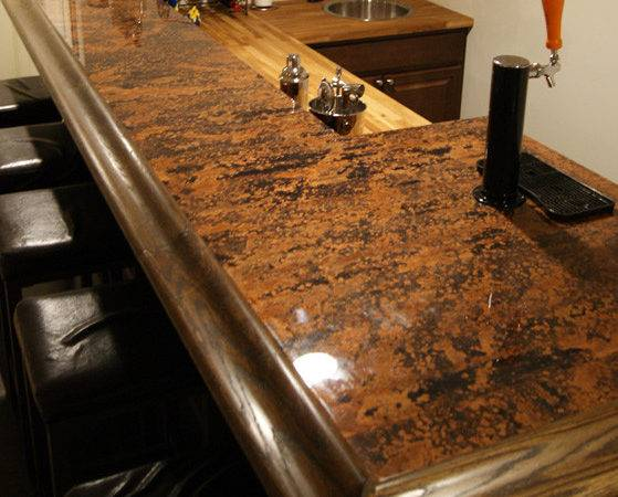 Another Mottled Copper Bar Top