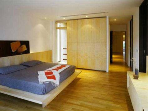 Apartment Contemporary Bedroom Interior Parquet