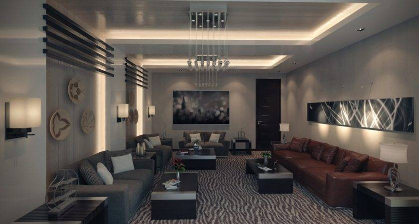 Apartment Modern Living Room Sofas Rug Chandelier Olpos