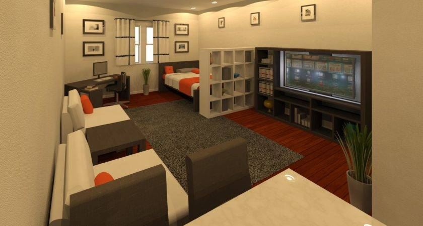 Simple One Bedroom Apartment Designs Example Placement Little Big Adventure,Hanging Curtains From Ceiling With Command Hooks
