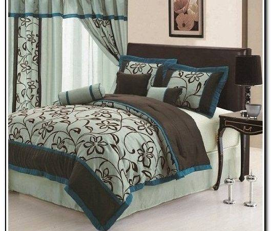 Aqua Blue Brown Bedding Sets Beds Home Design