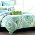 Aqua Lime Green Bedding Orange
