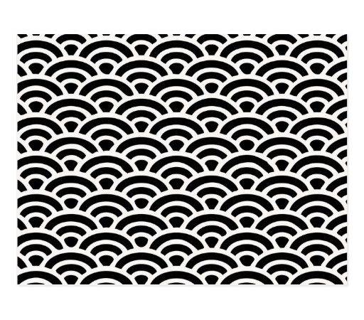 Art Deco Black White Pattern Postcard Zazzle