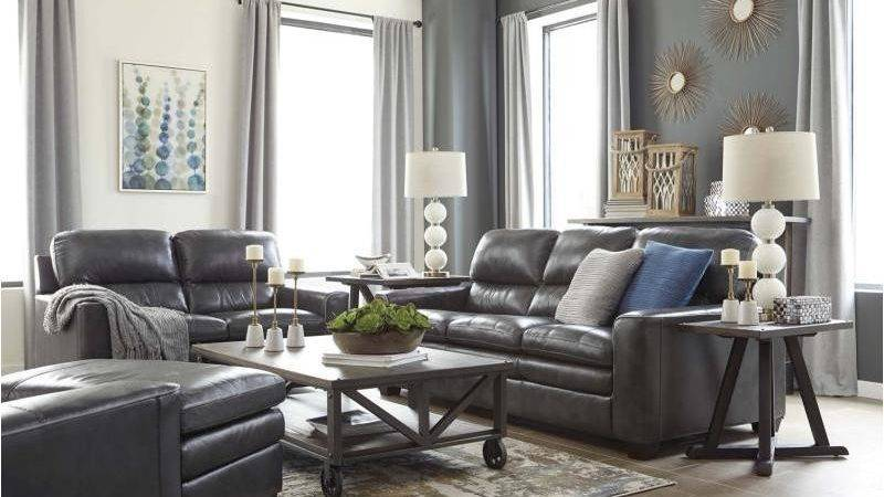 Ashley Furniture Gleason Charcoal Living Room Sofa