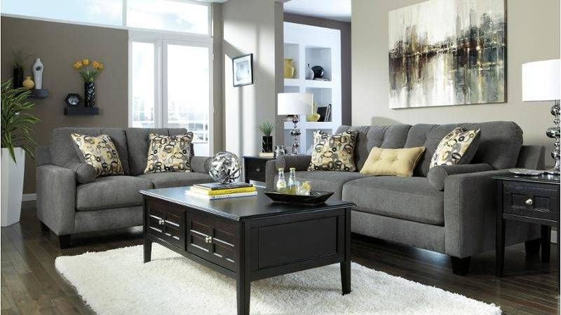 Ashley Furniture Mallbern Charcoal Living Room Sofa
