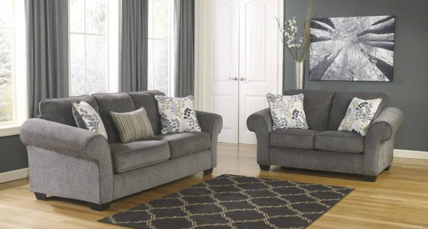 Ashley Makonnen Charcoal Sofa Loveseat Set Dallas
