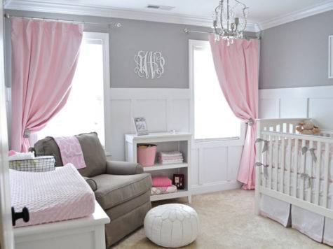 Ava Sweet Gray Pink Nursery Project