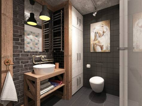 Awesome Industrial Bathroom Design Ideas
