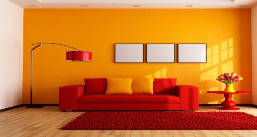 Awesome Living Room Color Combinations Red Also Wall