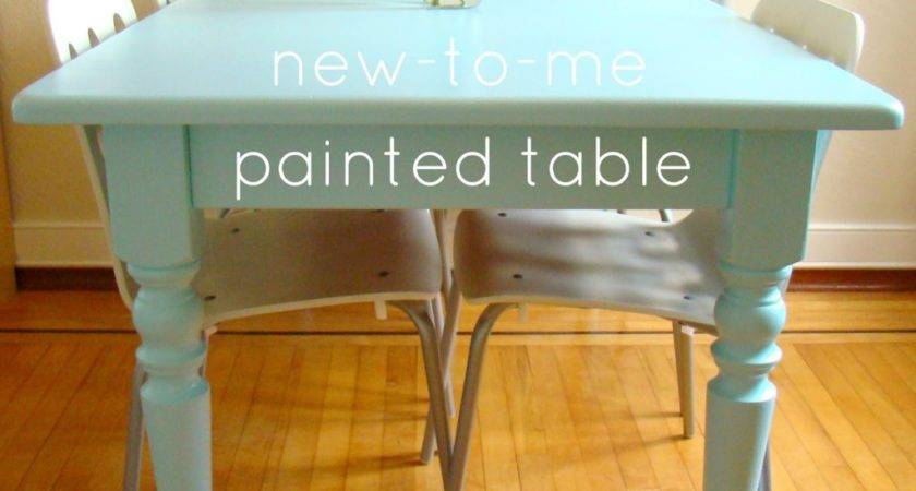 Awesome Photos Painted Dining Room Table Decorate