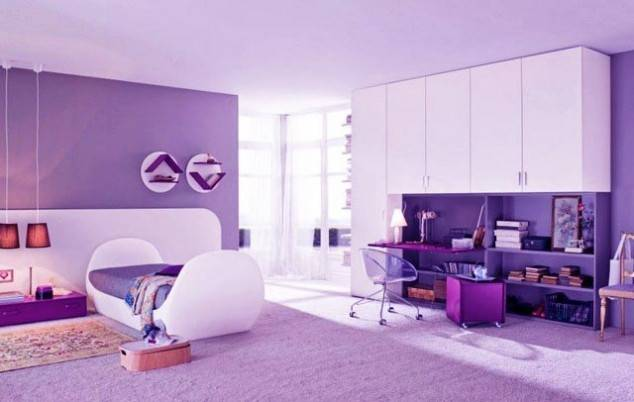 Awesome Purple Girls Bedroom Designs