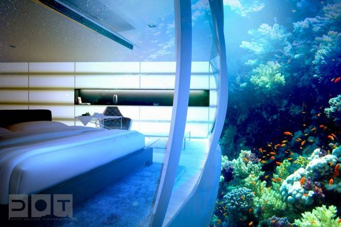 Awesome Underwater Hotel Dubai Water Discus