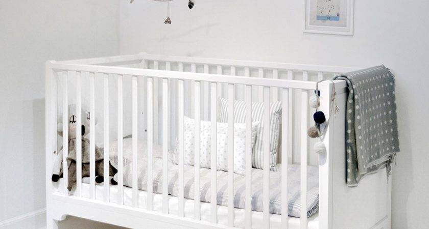 Baby Toddler Luxury Cot Bed White Nursery