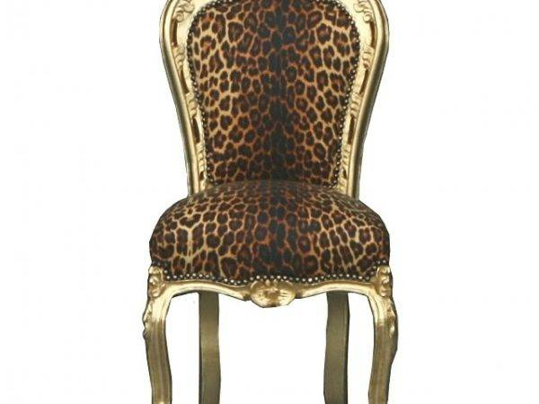 Baroque Dining Room Chair Leopard Gold Furniture