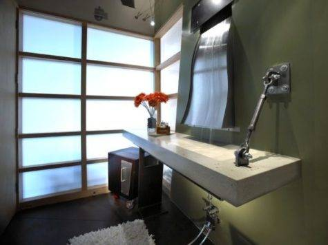 Bathroom Living Room Industrial Touch