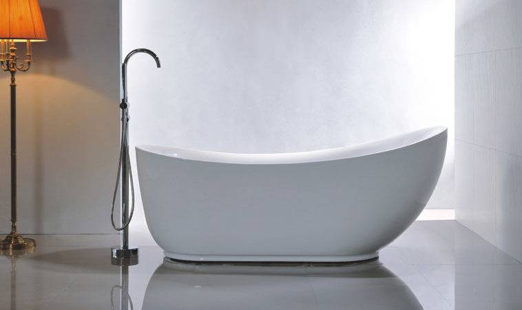 Bathroom Modern Small Oval Freestanding Tub Faucet