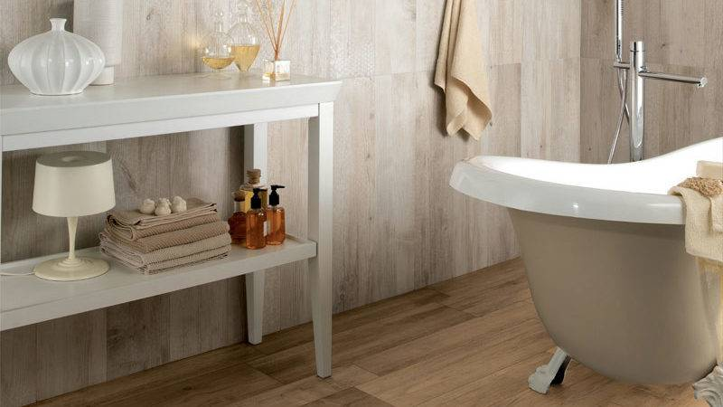 Bathroom Wood Tile Floor Home Decorating Ideas