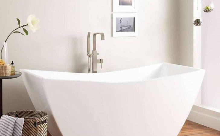 Bathtub Freestanding Soaking Tubs Small Spaces White