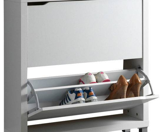 Baxton Studio Simms Modern Shoe Cabinet Contemporary