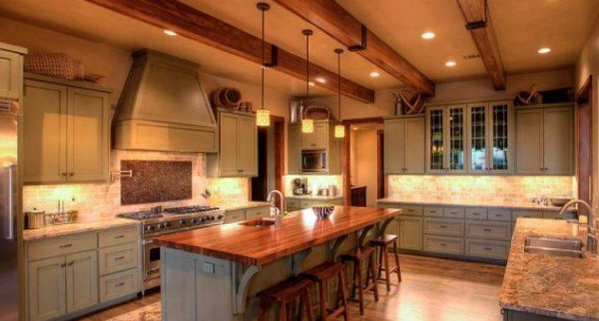 Beams Ceiling Country Kitchen