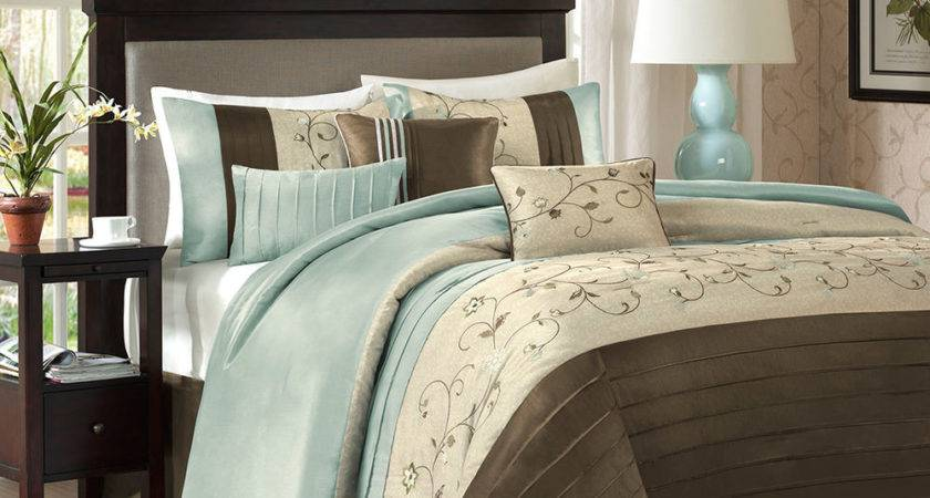 Beautiful Modern Soft Blue Brown Taupe Beige Ivory