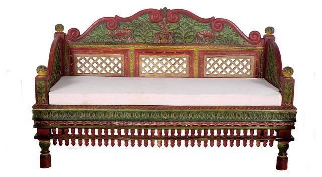 Beautifully Hand Painted Intrinsically Carved Teak Wood