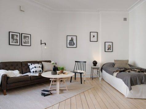 Bed Living Room Dark Touches Coco Lapine