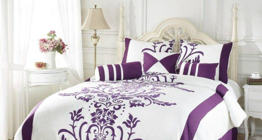 Bedroom Adorable Pink Purple Comforter Sets Queen