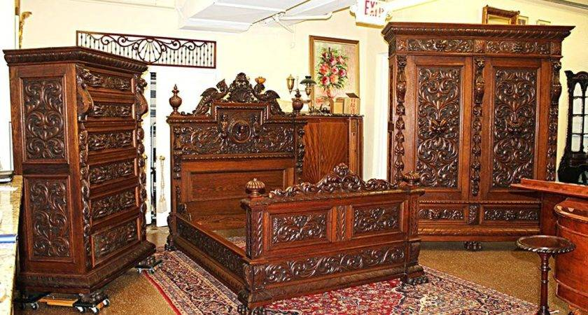 Bedroom Antique White King Sets Reproduction