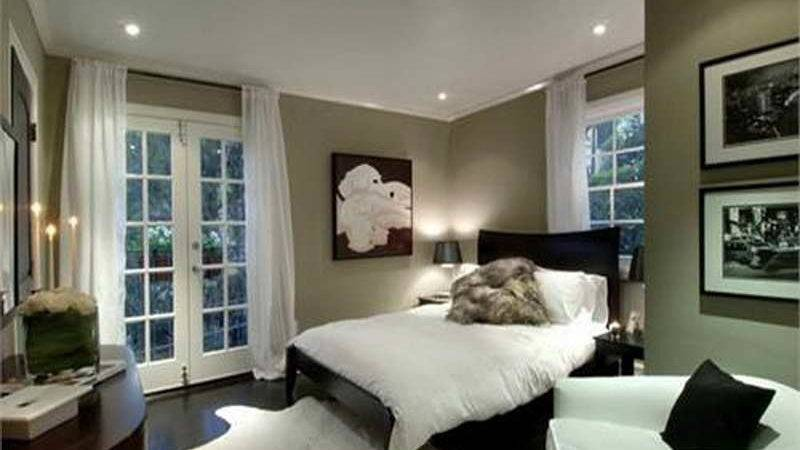 Bedroom Colors Wall White Curtains